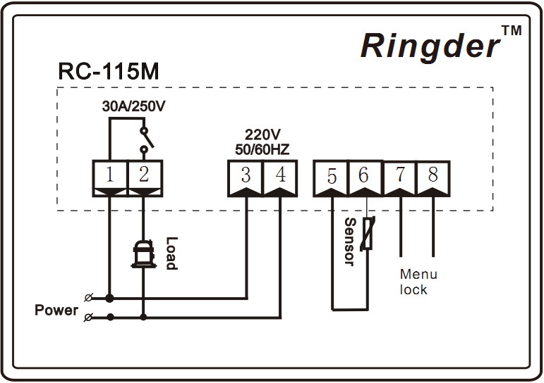 ringder rc  water heater temperature