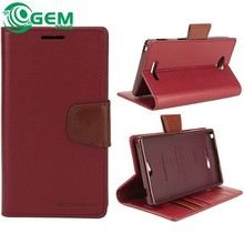 Goospery sonata wallet leather case mobile flip cover for iPhone 4 5 6 plus