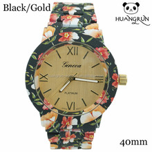 Wholesale fashion color printed watches for ladies design