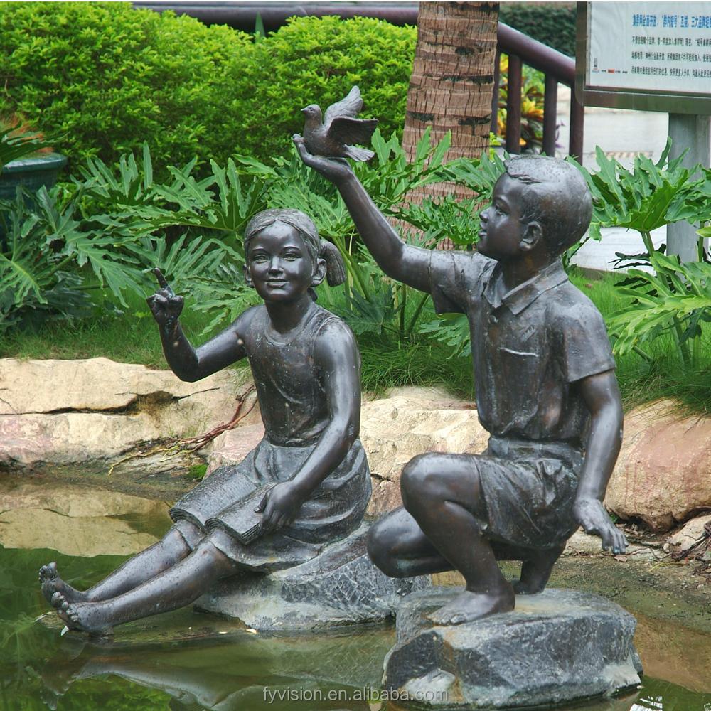 Outdoor Garden Cast Bronze Children Statue Buy Bronze