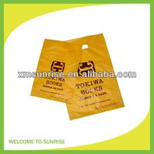 Yellow LDPE die cut plastic bag