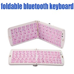 Foldable wireless keyboard, Silicone folding bluetooth keyboard