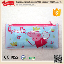 High frequency promotional school/office flat cheap PVC pencil bag