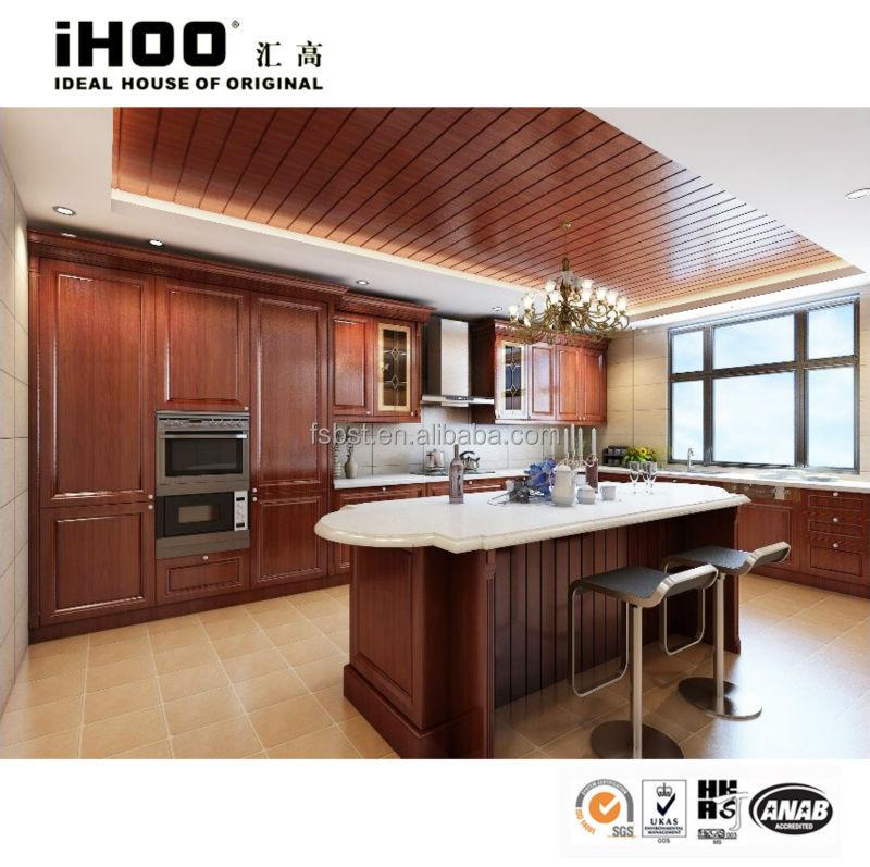 Top quality cherry wood door high end kitchen cabinets for High end kitchen cabinets