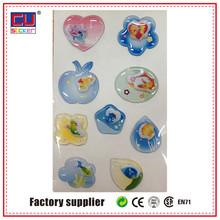 apple heart adhesive 3D epoxy pvc daily using gel sticker