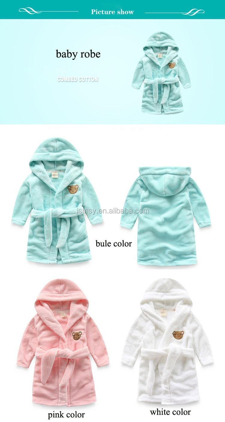 Enfants peignoir/peignoir polaire à capuchon vêtements de nuit