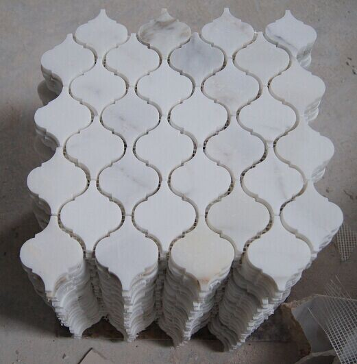 Calacatta Marble Hexagon Mosaic Tile Square Shape And