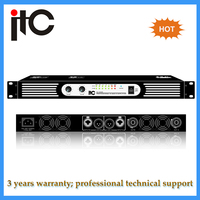 Digital audio 1U class d 1200W professional mosfet power amplifier