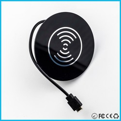 2015 hot sale wireless mobile phone battery charger furniture wireless charger for coffee shop
