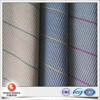 yarn dyed cotton polyesrer elastane dobby stripe denim fabric for women blazer