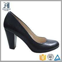 EU 35-46 large size women shoes black genuine leather high heel shoes