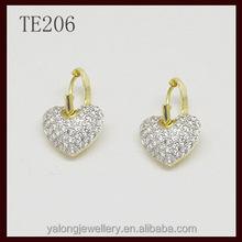 heart huggie earring fashion style 2015