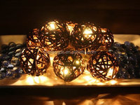 Battery Operated Warm White LED String Lights with Willow Ball, Christmas Lights, Party Lights