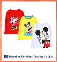 2015 new arrived casual kids lovely t-shirt/Cartoon mouse cute unisex children top
