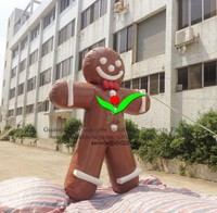 Commercial advertising cartoon PVC Tarpaulin 15.7ft inflatable cookie man