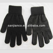 string knit pvc dots work gloves