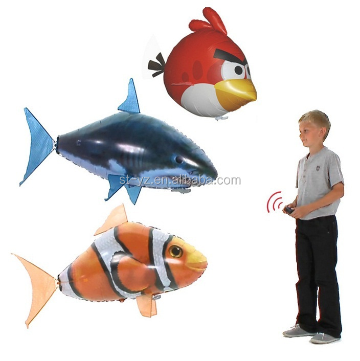 2015 remote control air flying fish inflatable flying fish for Remote control flying fish