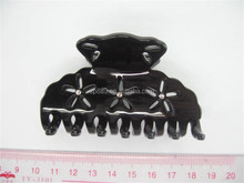 AAA+ quality hot sale hollow and crystal hair claw black hair jaw clamp resin hair accessories