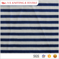 Black and white stripe spandex stretch fabric