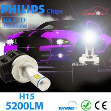 Qeedon best quality off road motorcycle lights led headlight auto bulbs