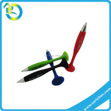 Wholesale custom logo 3D colorful lovery shape silicone soft pen sucker
