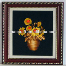 Chinês lovely carvão ativado foto decoração( flores sol) artesanato para a sala de espera como presentes de natal
