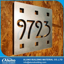 Brushed Finish House Number and Name Plaques
