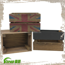 Custom Professional Wooden Crate Storage Crate For Wine and Fruits