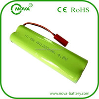 ni-mh rechargeable aa nimh battery pack 4.8v 1200mah with 10k thermistor