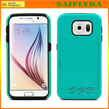 Combo Stand Armor Shockproof Case Cover for Samsung S6 with Card Slot