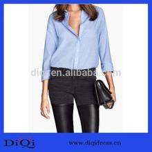 diseño de moda blusa de manga larga para las damas de oficina