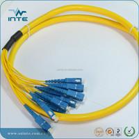 Single mode , Simplex,G652D,3m,LC SC FC/PC,PVC, 2mm , outdoor fiber optic patch cord with single mode fiber optic cable