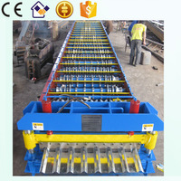 trapezoid metal roof sheet panel deck roll forming