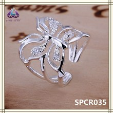 Animal Jewelry Silver Plated Butterfly Shape Ring