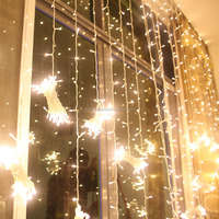Holiday Time Christmas Indoor & Outdoor color changing led curtain light