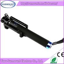 2015 new Extendable folding bluetooth wireless take pole mono pod for cell phone camera