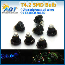 Useful auto parts green SMD car led, t4.2 auto lamp