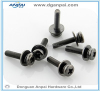 high precision custom made Black anode/ painting aluminum screw parts