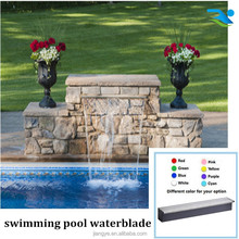Acrylic water descent with LED strip for swimming pool waterfall decoration or pond waterfall