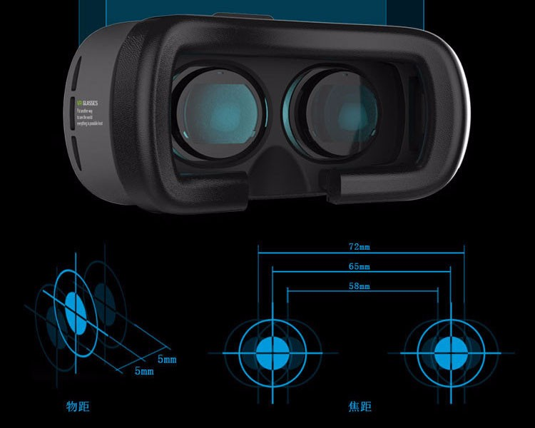 2016 New Product Google Cardboard Virtual Reality 3D VR BOX 2.0 with Game Remote Controller