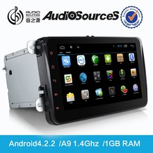 ANDROID 4.2.2 2 din car dvd gps for auto parts vw skoda with radio gps free wifi dongle two years warranty