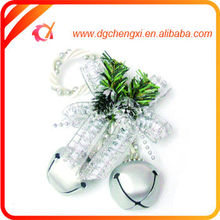 China supply mini silver iron tinkle bell with bow