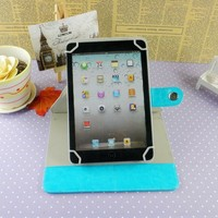 360 degree rotating PU leather case for ipad mini universal tablet case for 7 inch wholesale