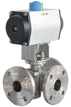 Pneumatic Three-Way Control Valve