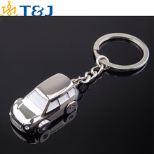 SSS 2015 hot! fashion men Key Chains alloy silver plated car shape key chain&