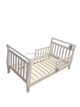 wholesale sleigh baby toddler bed in solid pine wood