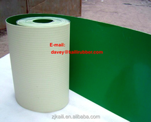 green white color PVC & PU conveyor belt used in food industry