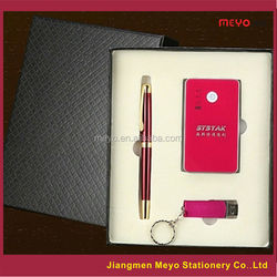 Business gift set for man or women with pen power bank and usb flash drive,business gift set