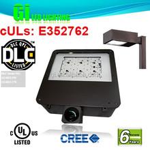 6 years warranty UL DLC LED Shoebox Light With Ac100-277v