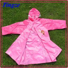 Best Selling Kids Red Frozen Rubber Raincoat with Hood Waterproof Frozen Raincoat Elsa Anna HZR9